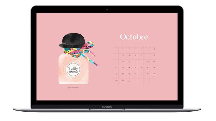 La Paillette - Blog Rennes - Claire, illustratrice et graphiste rennaise, bonnes adresses: Calendrier d'Octobre & fonds d'écran