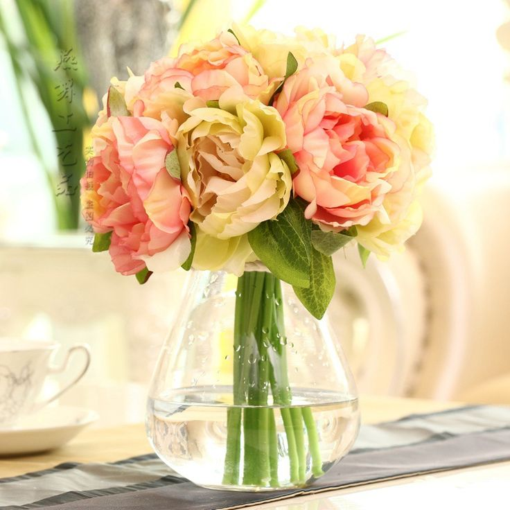Hot sell 10 heads bride bouquet wedding flowers peony rsoe silk flower artificial flower for home decoration table flowers-in Decorative Flowers & Wreaths from Home & Garden on Aliexpress.com | Alibaba Group