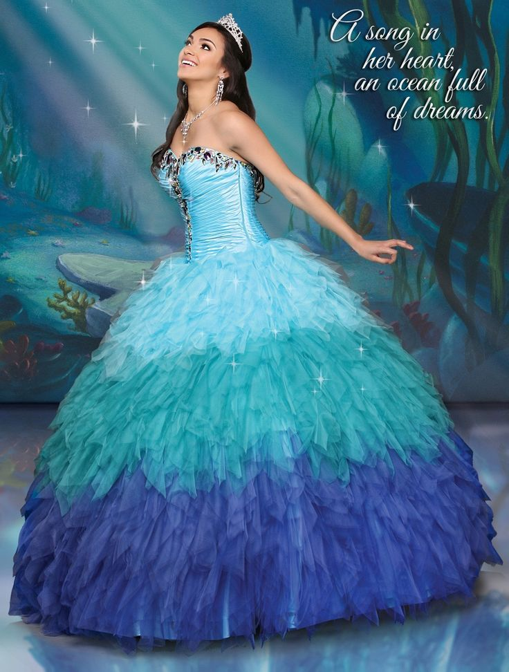 Disney Royal Ball Quinceanera Dress Ariel Style 41061