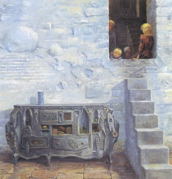 OTTO FRELLOS MALERIER:  trappen, stair, art, fantasy, painting, inspiration