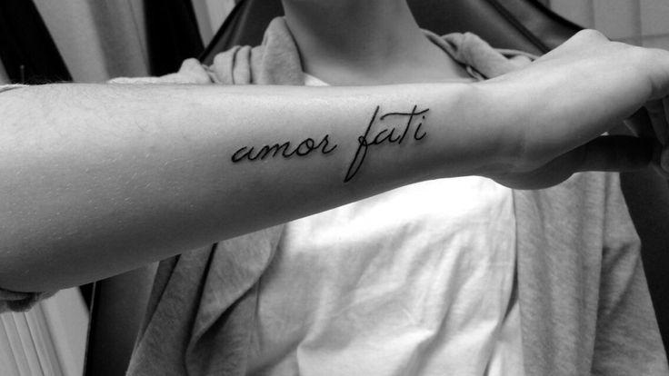"""Amor Fati"" - Love your fate. #tattoo"