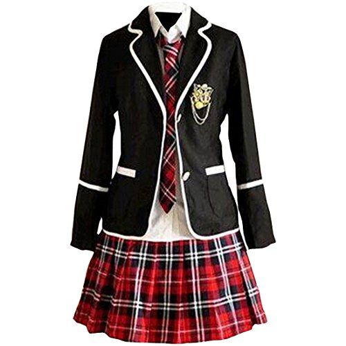 Partiss Maedchen Sweet Japan Schuluniform Fancy Dress Kleid Cosplay Anime Langarm Anzug Mantel Bluse mit Faltenrock Partiss http://www.amazon.de/dp/B01A8INJH4/ref=cm_sw_r_pi_dp_rFv1wb1SHANEM