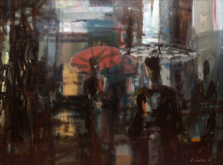 Karel Souček - Ulice v dešti