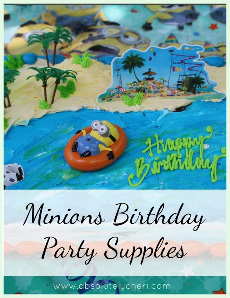 Minions Birthday Party Supplies - Absolutely Cherí