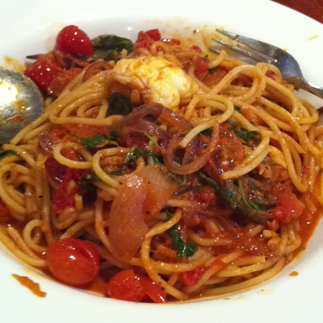 This moment  14.03   8 June 2012   Adelaide - Scoozi's moreton bay bug spaghetti