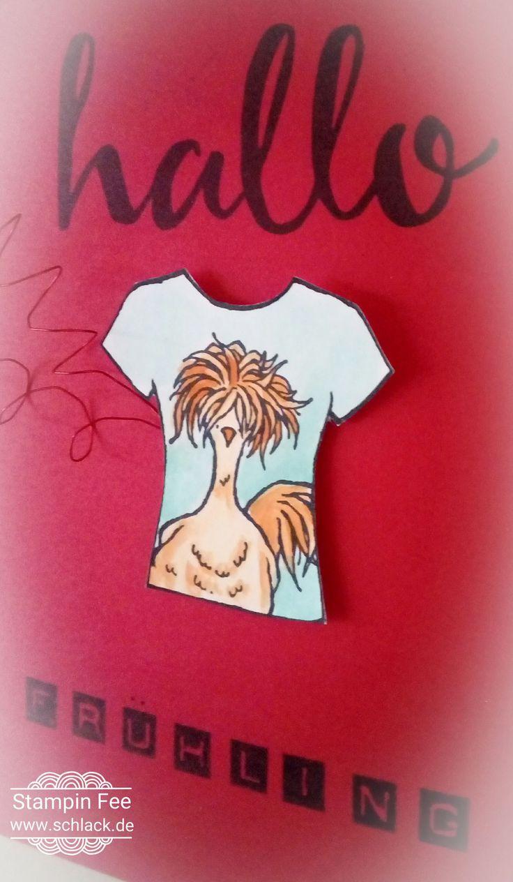 stampin occasions spring catalog hey hi chick easter  hello spring t-shirt custom tee chicken Frühlingskatalog huhn Hahn hünchen das gelbe vom ei sale a bration Ostern frühling