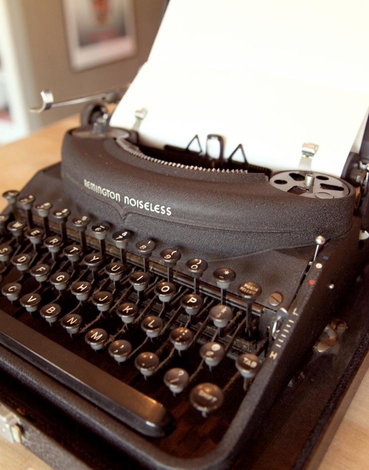 Vintage Remington Rand Noiseless 7 Portable Typewriter. $250.00, via Etsy.