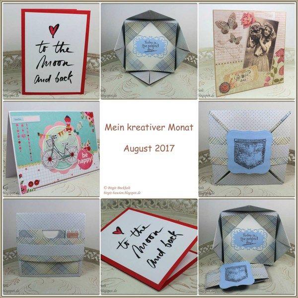 Mein kreativer Monat - August 2017 - Birgit's Blog - kreatives und mehr...