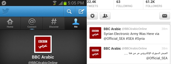 BBC Network Twitter Accounts Hacked by Syrian Electronic Army