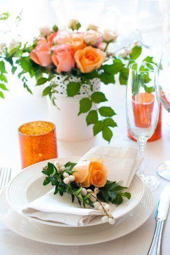 Tischdeko Grun Orange Tischdekoration Zur Hochzeit Party