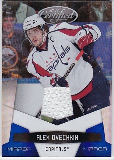 Alex Ovechkin 10/11 Certified Mirror Blue Materials 12/100 from $3.99