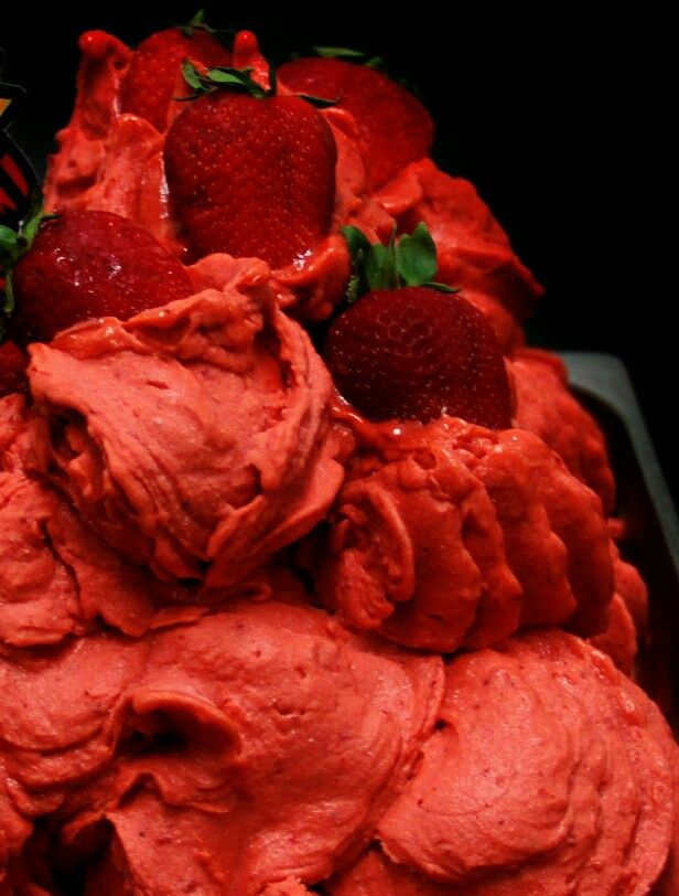 Strawberry Sorbet #IceCream #Strawberry