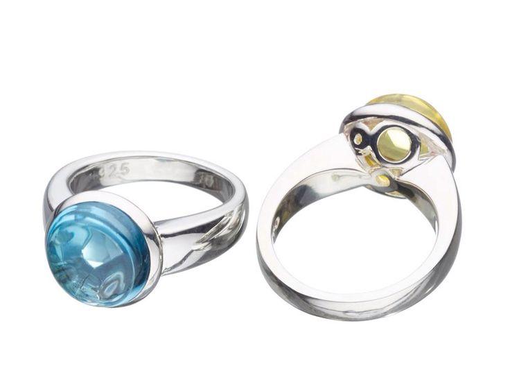 The beautiful 'Clarity' set with Blue Topaz and Lemon Quartz