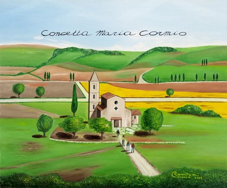 Testimoni sul sentiero della speranza (Witnesses on the path of hope)  oil on canvas, 50x60    Available