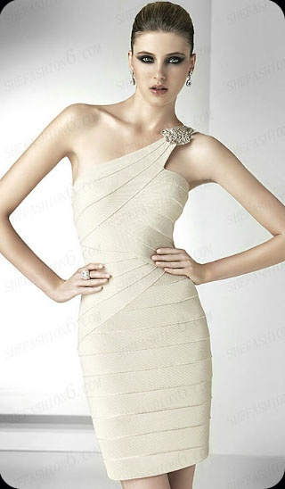 http://www.shefashion6.com  Item 2012SP0016   2012 One Shoulder Knee Length Satin Party Dress; Real top fabric, competitive price!!!