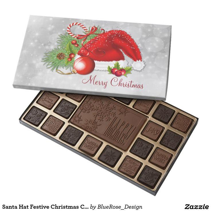 Santa Hat Festive Christmas Chocolate Box 45 Piece Box Of Chocolates
