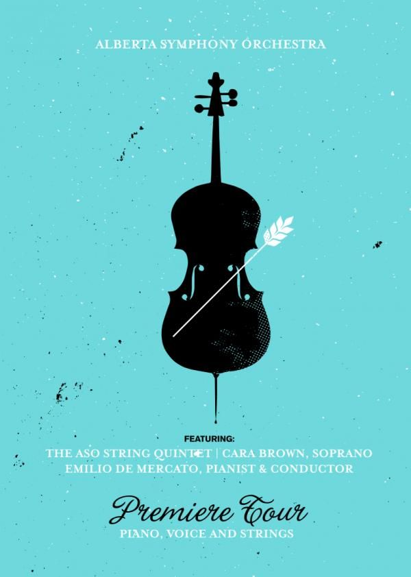 The Print Ad titled A classical tour for all Albertans, 3 was done by RED advertising agency for brand: Alberta Symphony Orchestra in Canada.