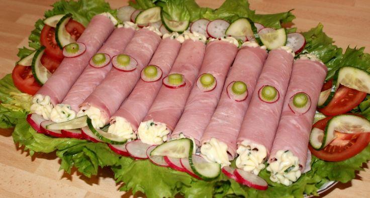 Sajtkrémes sonkatekercs recept