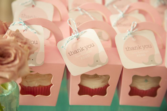 Elephant theme: Elephants Theme, Birthday Parties, Baby Elephants, Cupcake Favors, Cupcake Boxes, 1St Birthday, Parties Favors, First Birthday, Parties Ideas
