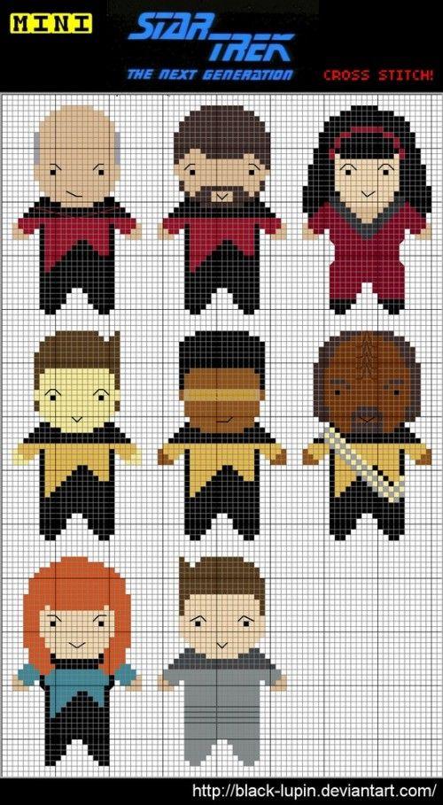 Mini Star Trek Cross Stitch pattern