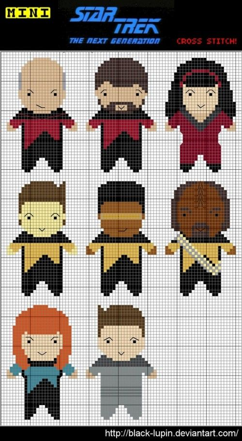 Mini Star Trek Cross Stitch pattern