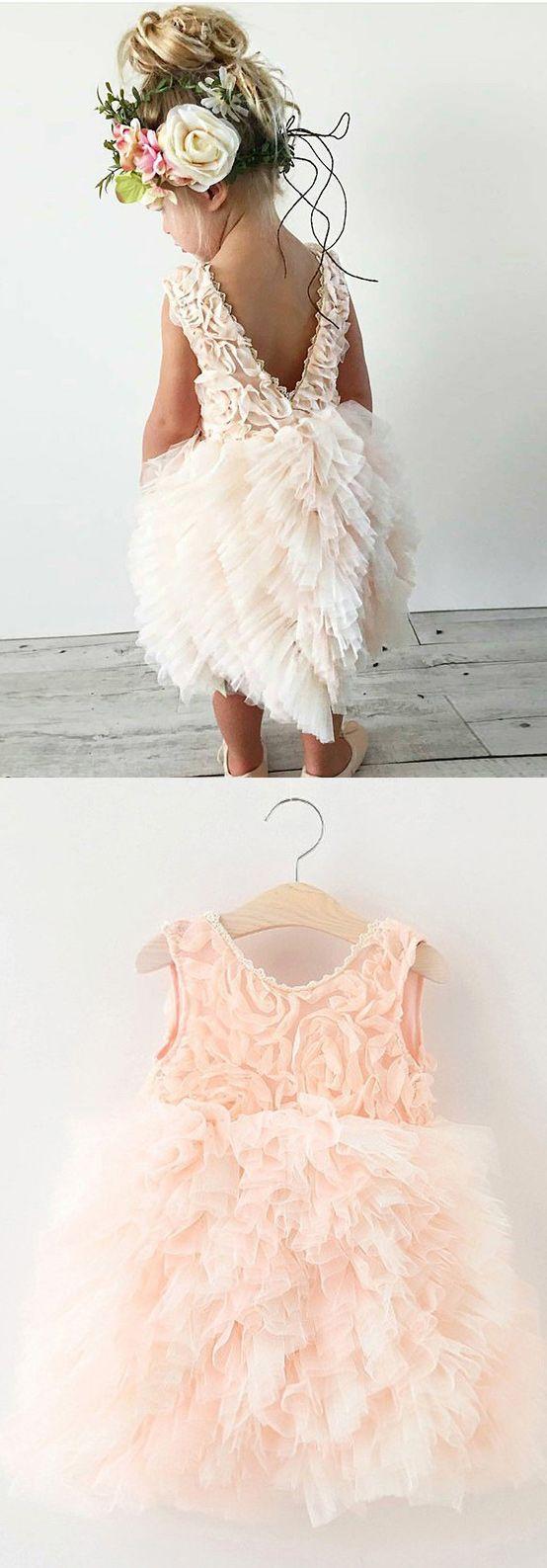 pink short flower girl dresses,cute flower girl dresses, new arrival flower girl gowns, 2017 flower girl gowns, dresses for women , women's flower girl gowns