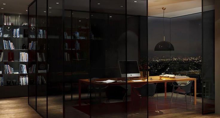 Imagine o prazer de trabalhar em um ambiente lindo assim! Melhor ainda se puder combinar a Mesa Byo Work – em alumínio, tampo em vidro de 8mm e com divisórias de vidro ao centro, além de uma calha para a passagem dos fios – e as Cadeiras Nina, de design suíço e atemporal. Não vai dar nem vontade de sair do escritório.  #inovação #arquitetura #design #interiores #corporativo #office