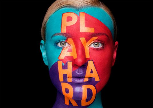 The Aizone Fall/Winter 2013 campaign was focused on bold colorful typography and positive and exuberant energy which reflected the dynamic, vibrant nature of the brand. Sagmeister & Walsh debuted the typography through colorful face painting with help from renowned body painter Anastasia Durasova.