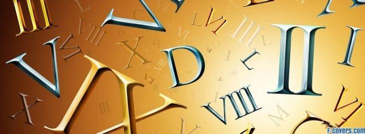roman numerals facebook cover