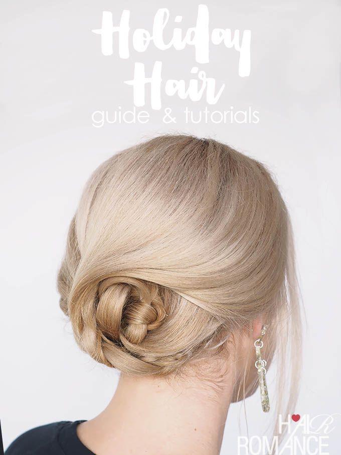 Easy Holiday Hair Tutorials – www.womentrends.c… – #HairstylesForWomenLong #Ha…