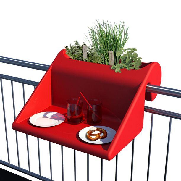 Balcony Desk Red red, furniture, desk