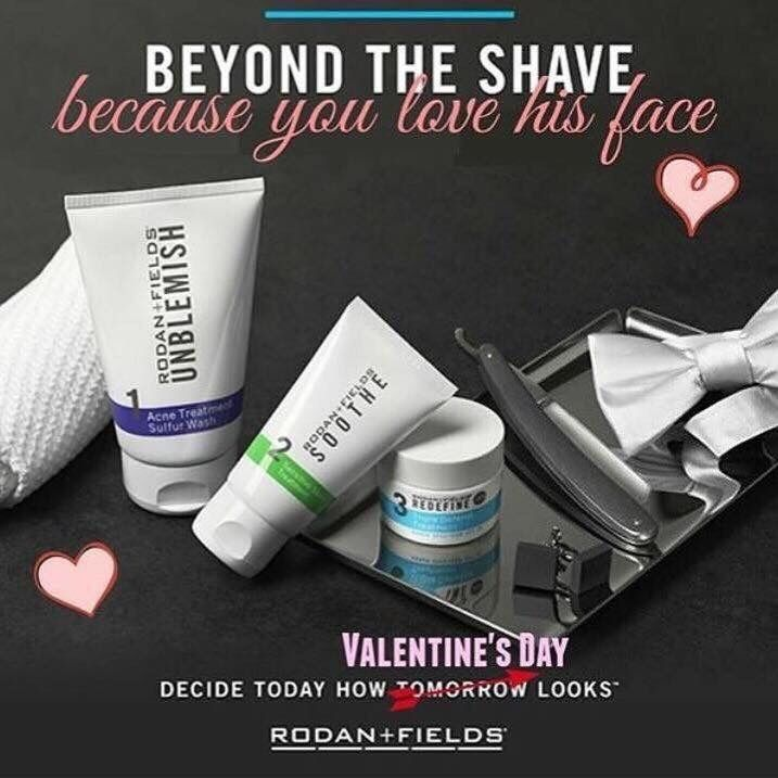 Ahhh, Valentine's Day, the day of love. But what do you get for that special man in your life? I've got you covered...   Our Beyond the Shave regimen is the best! It's clinically proven and curated by the doctors to work on a man's face. It's an easy to follow skincare regimen with exceptional results; end razor burn and reveal better-looking skin... because you love his face. ❤️  #sharethelove