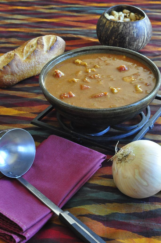 West African Peanut Soup. recommend using chunky peanut butter and ...