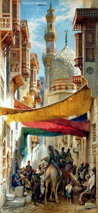 A STREET IN CAIRO, 1890 By Carl Haag