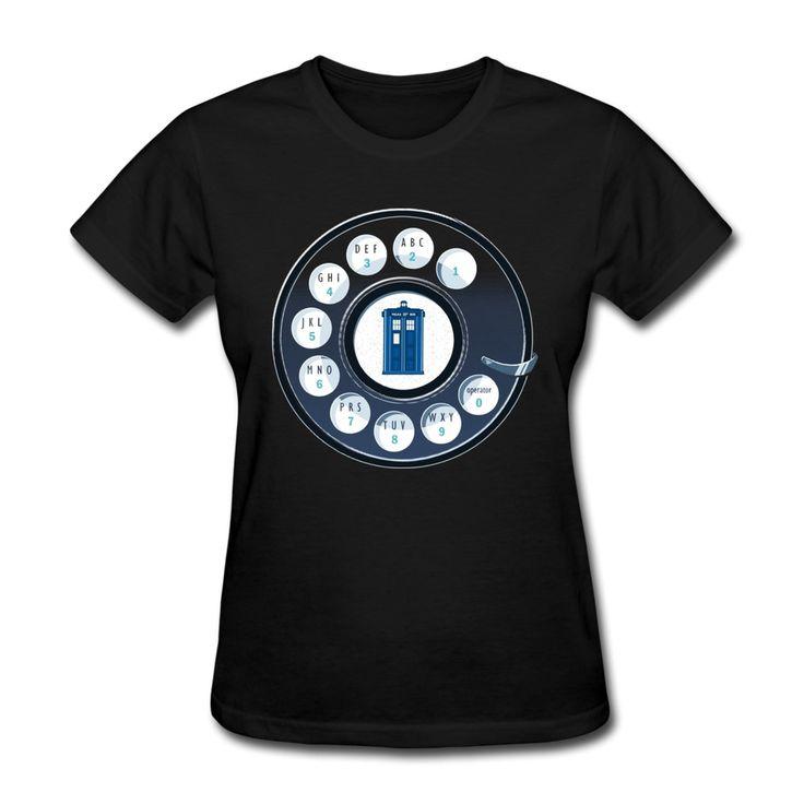 Pas cher Personnalisez solide femmes t shirt appelez le Doctor who tardis blagues Photo femmes T Shirts vente Promotion, Acheter  T-shirts de qualité directement des fournisseurs de Chine:             NO chronologiques                                  Matériel: 100% coton t shirts.
