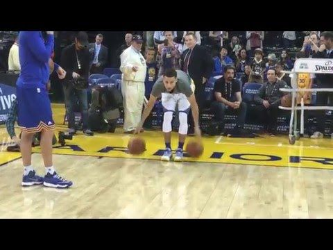 Stephen Curry's Full Pre-Game Routine for Trail Blazers/Warriors on April 3, 2016! (This confirms the principle of 'Practice Makes Perfect'. wouldn't you say?)