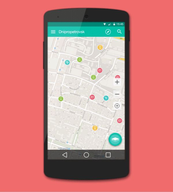 My Map app on Behance