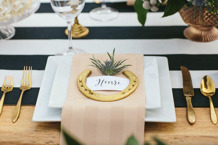 Elegant Equestrian / party table setting