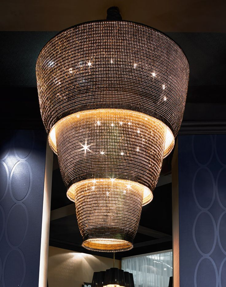 Signature Collection Special Order Design Grand Dia Crystallized Golden Chainmail Tiered Chandelier Pricing By Quotation