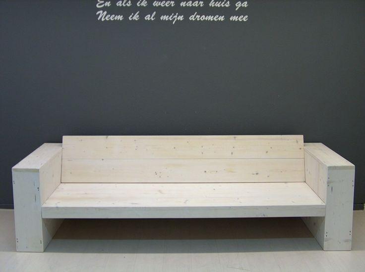 NIEUW Lounge bank steigerhout white-wash op voorraad (16420131846)