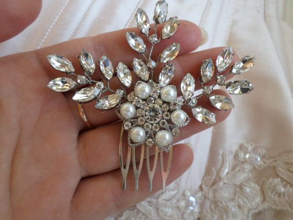 Bridal Haircomb Rhinestone haircomb by MagicBluebellDesigns