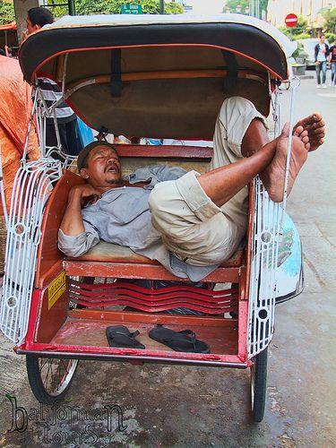 napping becak driver   Brodobodour, Yogjakarta, Java. Bali, …   Flickr