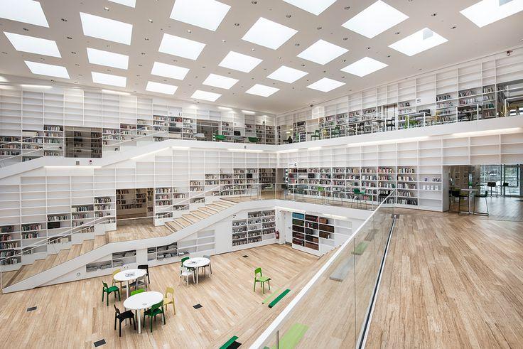 Dalarna Media Library in Falun by Adept