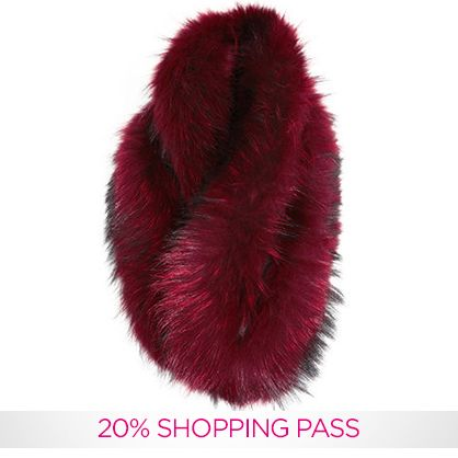 Gifts For Her: Burgundy Fur Stole | Charlotte Simone