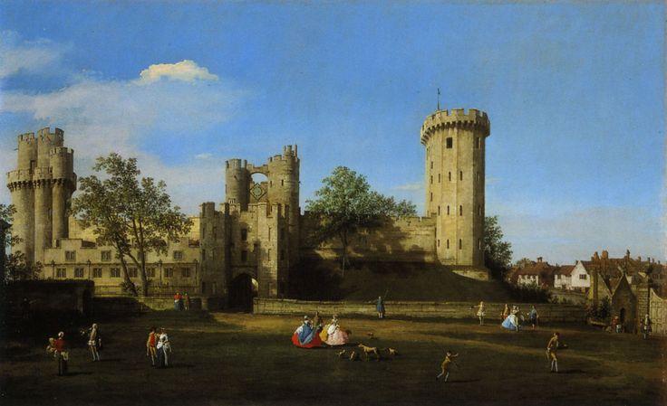 Canaletto - Château de Warwick, côté est, 1751.