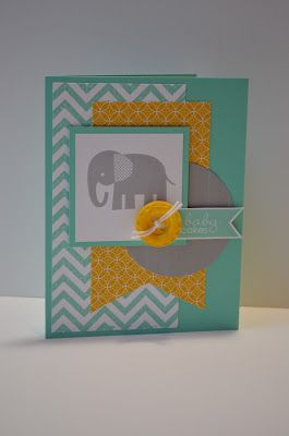 Stampin' Up! Baby Card by Paper, Pansies and Pachyderms: Zoo Babies