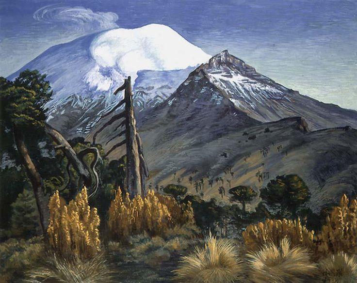 Vista del Popocatépetl de Dr. Atl - Colección Blaisten