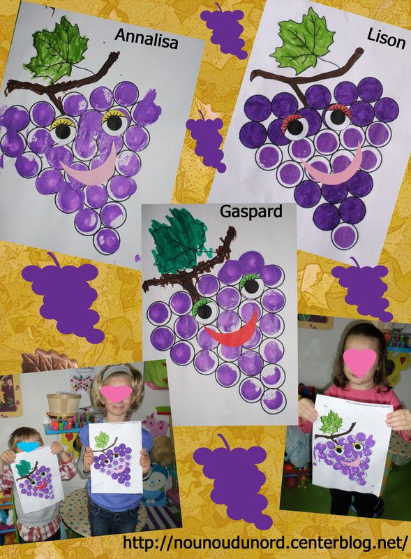 Les grappes de raisin des enfants