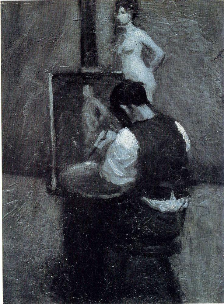 Edward Hopper, Malarz i modelka: Models Paintings, Hopper Painters, American Art, Edward Hooper, Whitney Museums, Hopper Whitney, Favorite Paintings, Edward Hopper Paintings, 1902 1904