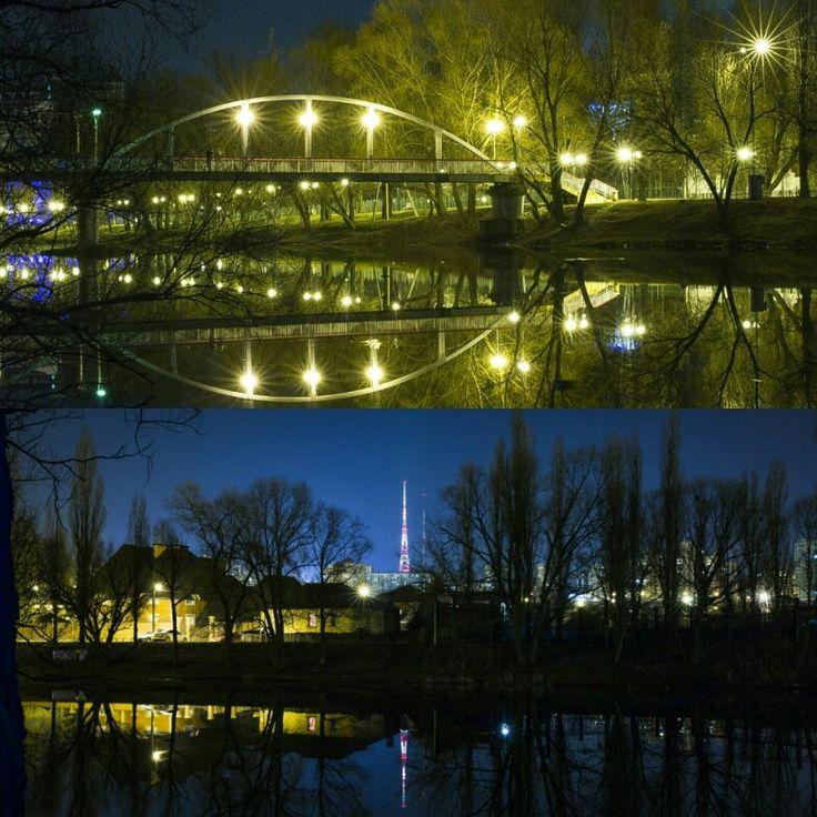 Прогулка по ночному парку Победы.  Фото: Галина Киян